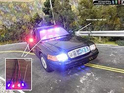 Genuine JPV2015 Product - 4 LED Police RC Light KIT for RC C