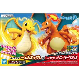 Bandai Hobby Pokemon Plamo Charizard & Dragonite Figure Mode