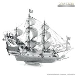 Fascinations Metal Earth ICONX Queen Anne Revenge Ship 3D La