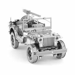 Fascinations ICONX Willys MB Jeep U.S. Army Truck Metal Eart