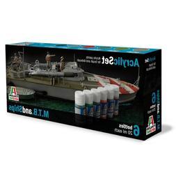 ITAAP0434 Italeri Acrylic Paint Set - MTB and Ships