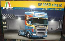 #3829 Italeri Scania R500 V8 1/24 Scale Plastic Model Kit,Ne