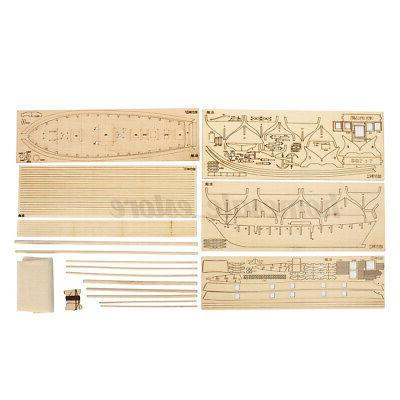1:100 Wooden Sailboat Ship DIY Model Gift