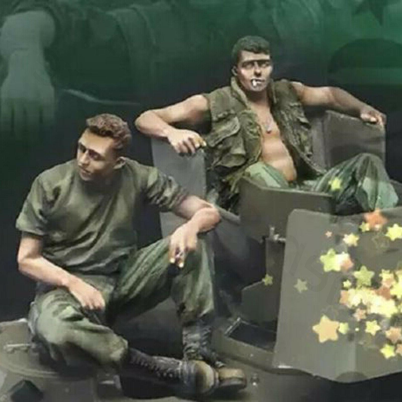 1/35 Resin Figure Model Kit US Soldiers Vietnam War Unpainte