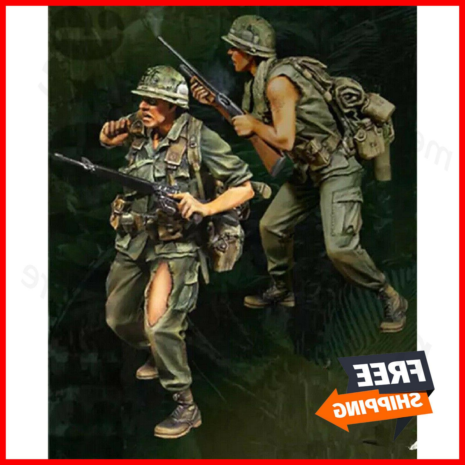 1/35 Resin Figure Model Kit Vietnam War US Soliers Unpainted