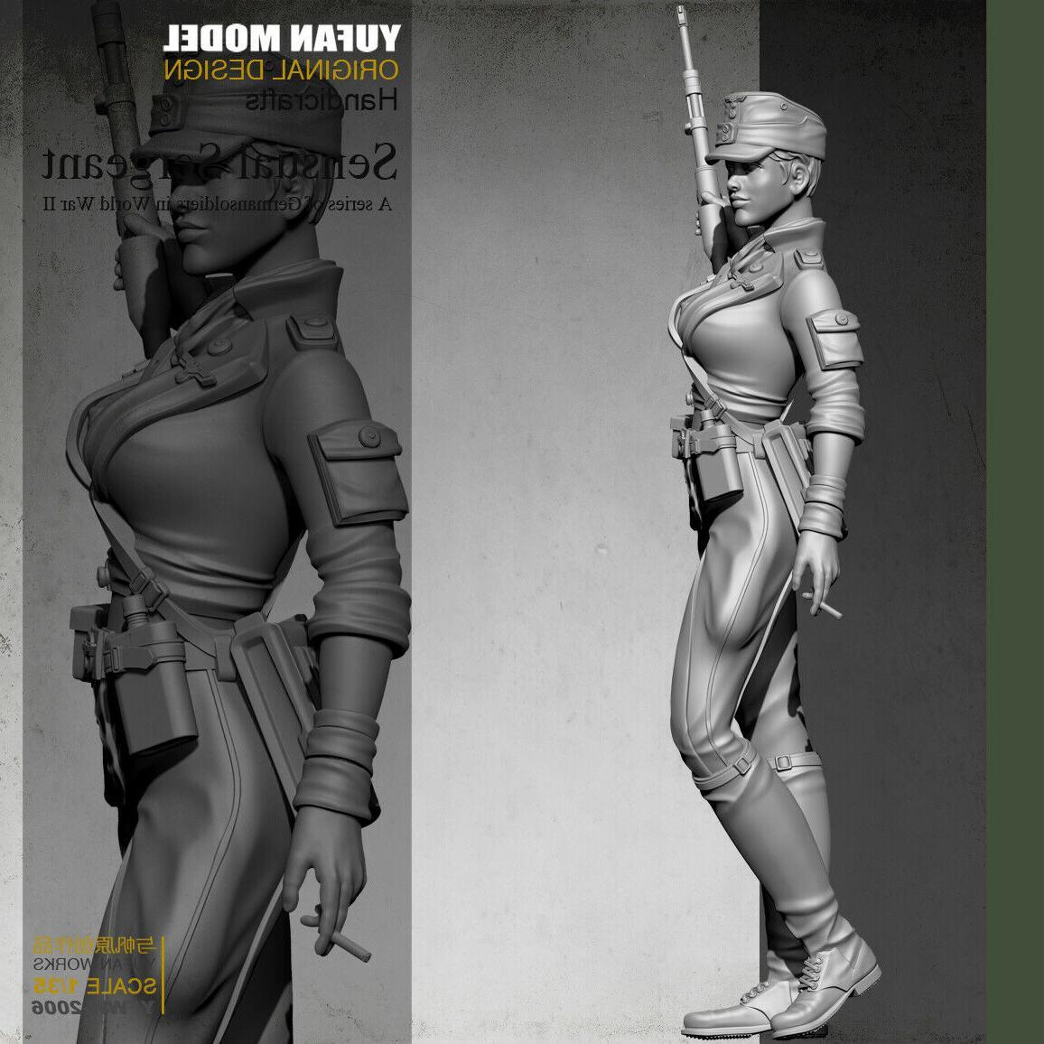 1/35 Scale Female Resin Figure Model GK
