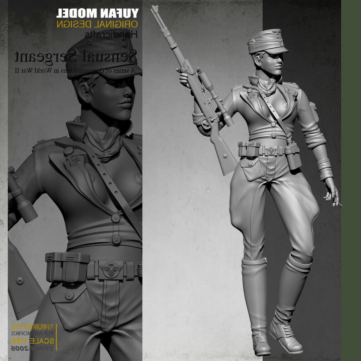1/35 WWII Shooter Female Sexy Soldier Resin Figure