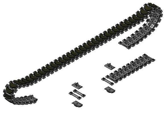 Italeri 1/35 T-136 Tank Track Link Set For M108 & M109 Serie