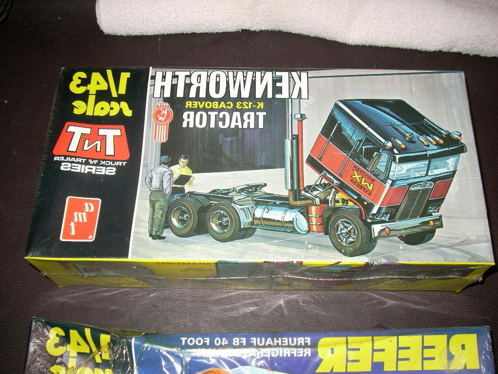 AMT 1/43 SCALE K123 CABOVER TRACTOR TRUCK MODEL AND REEFER KIT SEALED