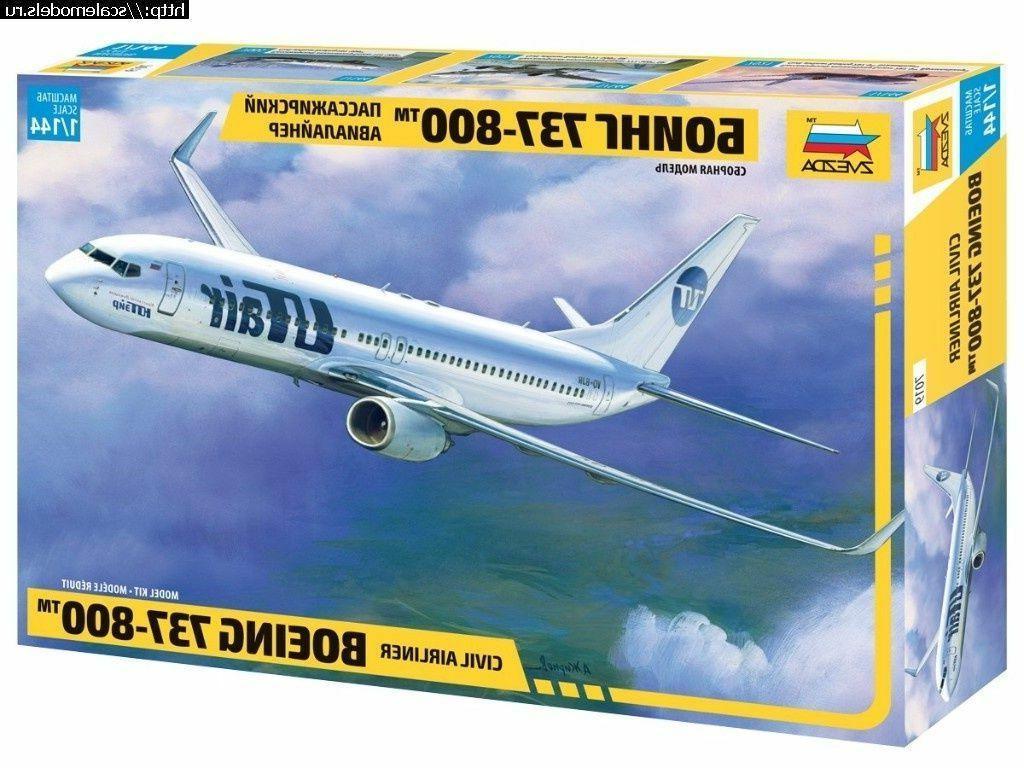 1/144 ZVEZDA 7019 Boeing 737-800 model kit NEW!