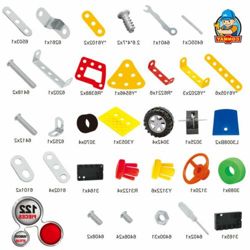 121 Pieces Truck Model STEM Toys Building Block Kit For Old Boys Girls