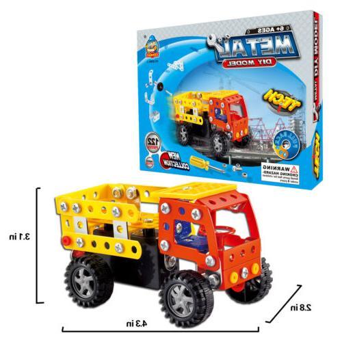 121 pieces truck model stem toys building
