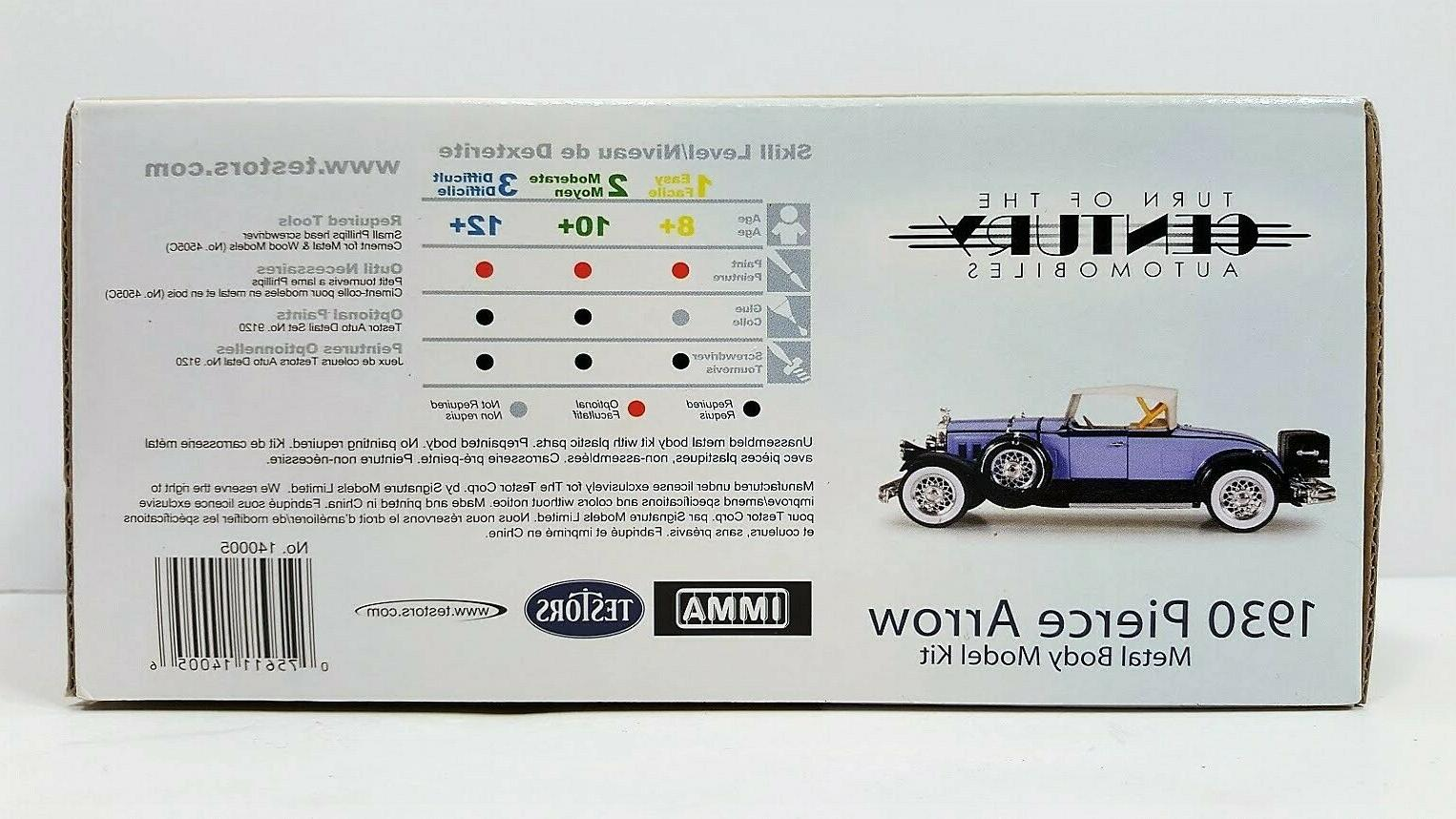 "Testors 1930 Pierce Metal Model 1/32"""
