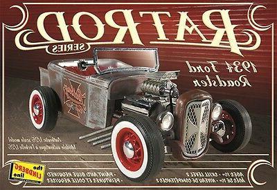 Lindberg 1934 Ford Roadster Rat Rod plastic model kit 1/25