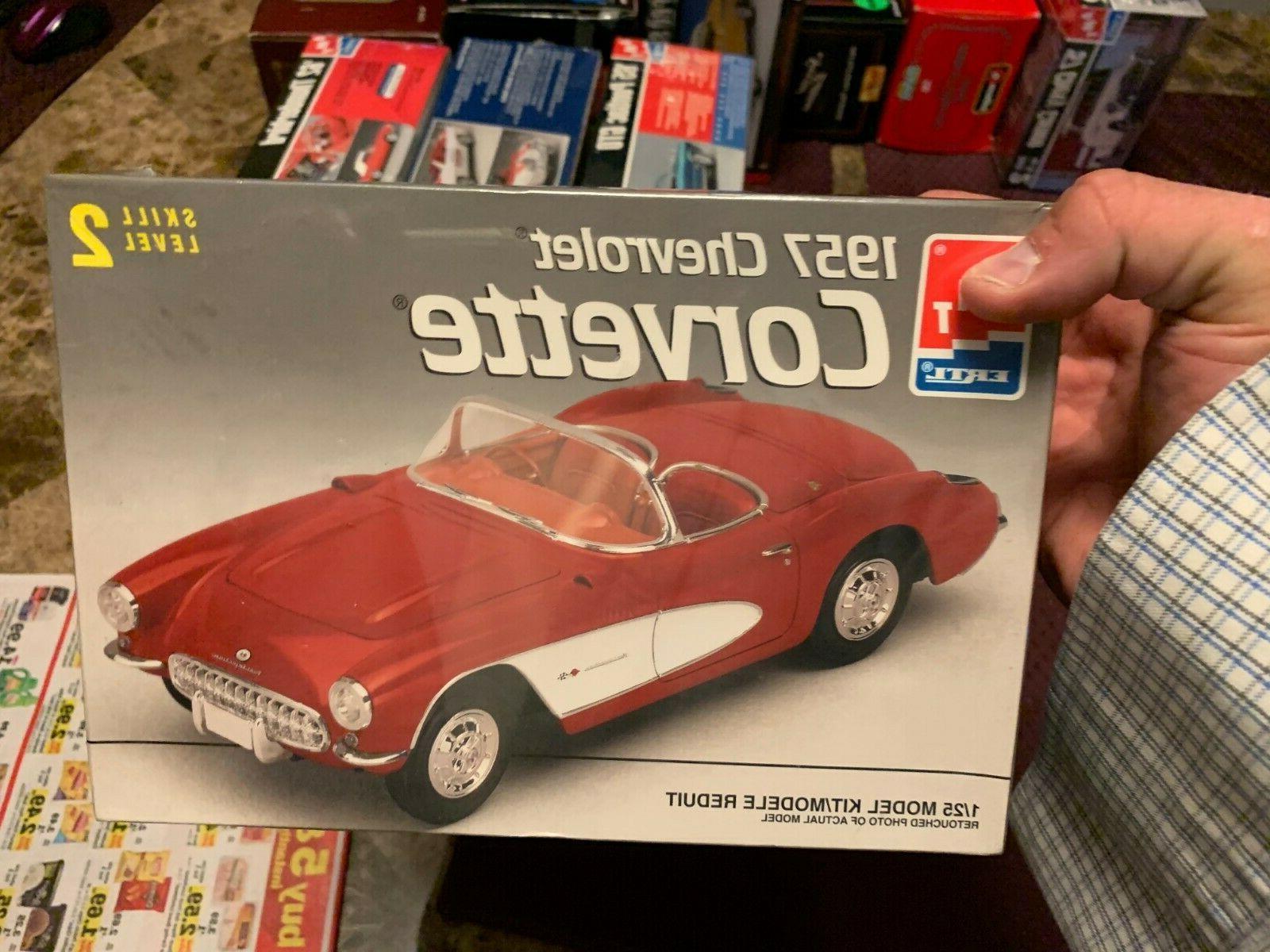 1957 chevy corvette convertible model car kit