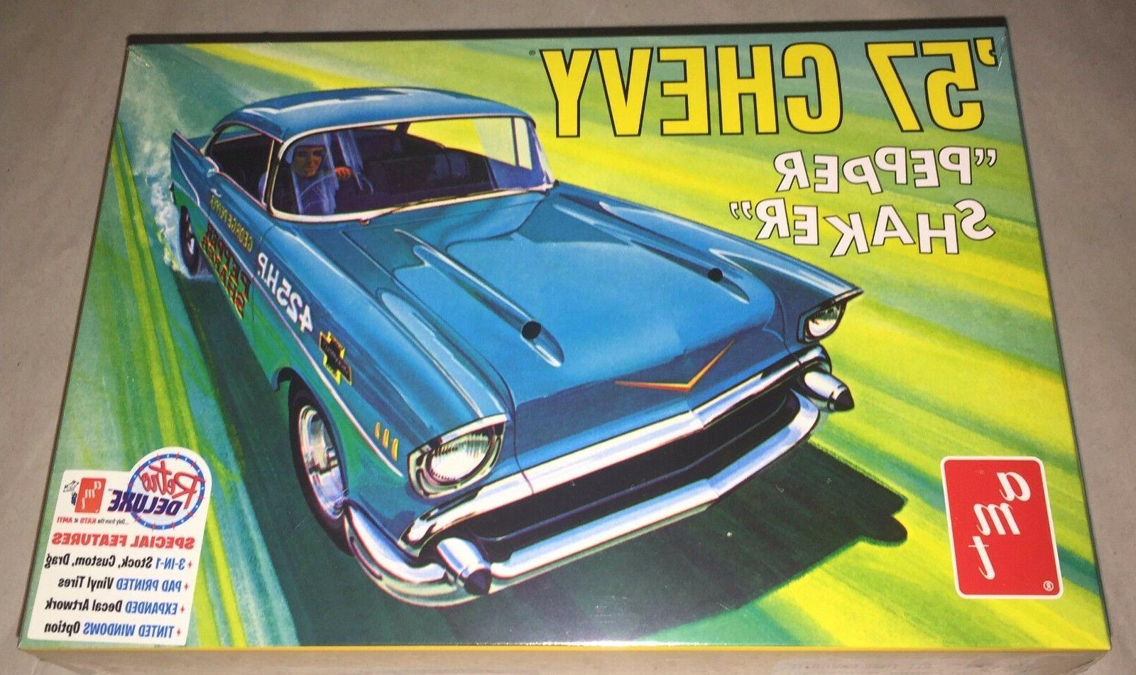 AMT 1957 Chevy Pepper Shaker 3 in 1 Stock Custom Gasser 1/25