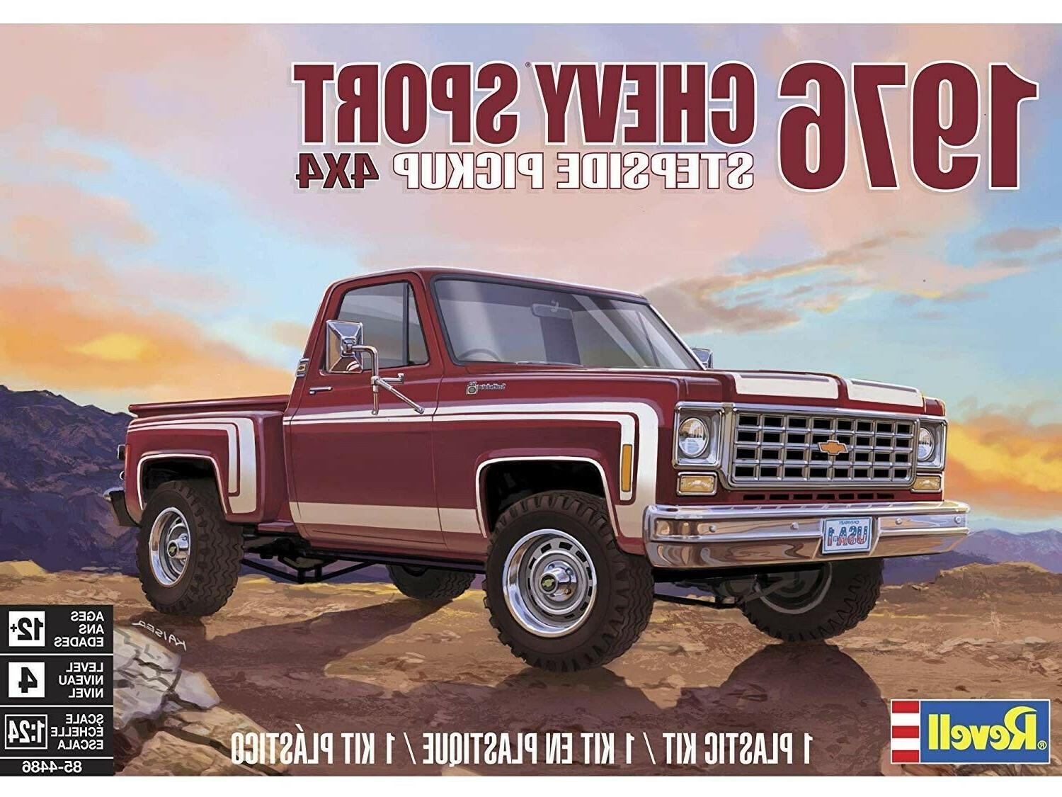 1976 chevy sport stepside pickup 4x4 1