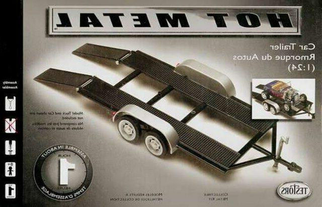 234 1/24 Tandem Car Trailer Metal TESS0234 TESTORS