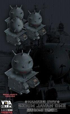 AFV CLUB 35261 WWII German EMC Type II Naval Mines  plastic