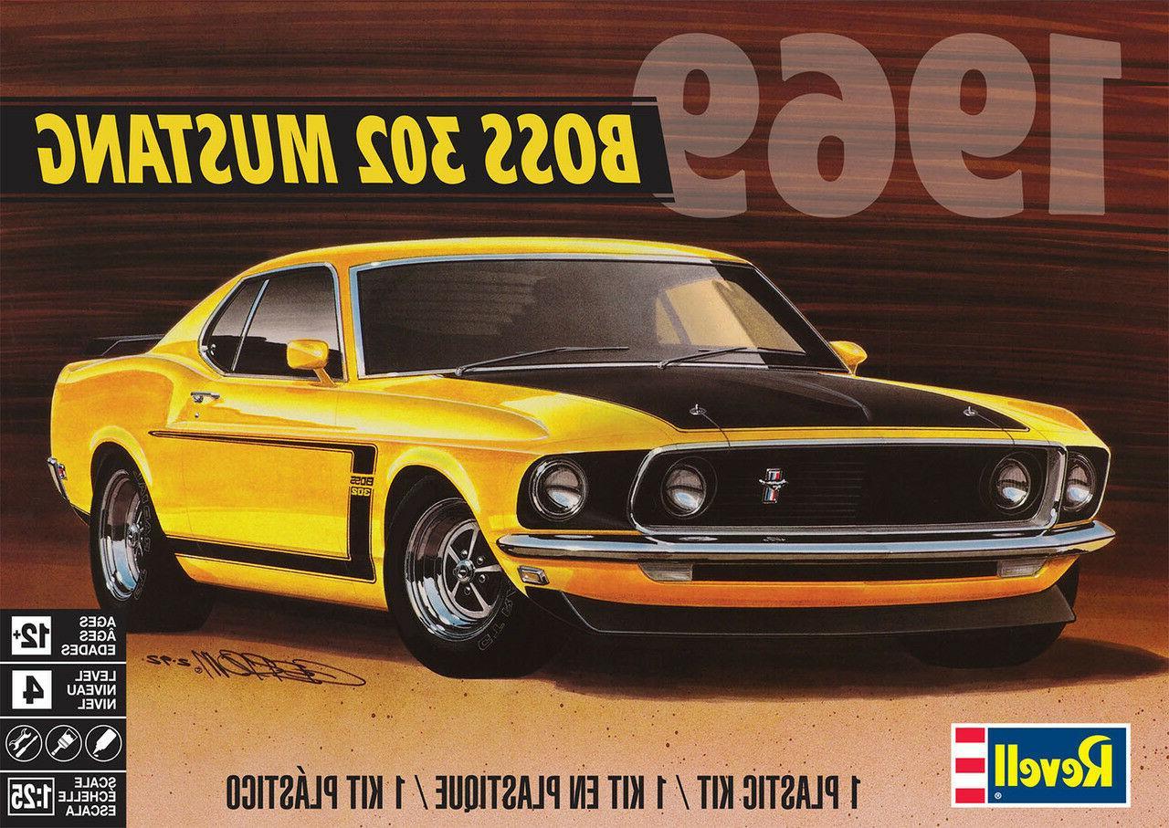 4313 1969 boss 302 mustang model kit