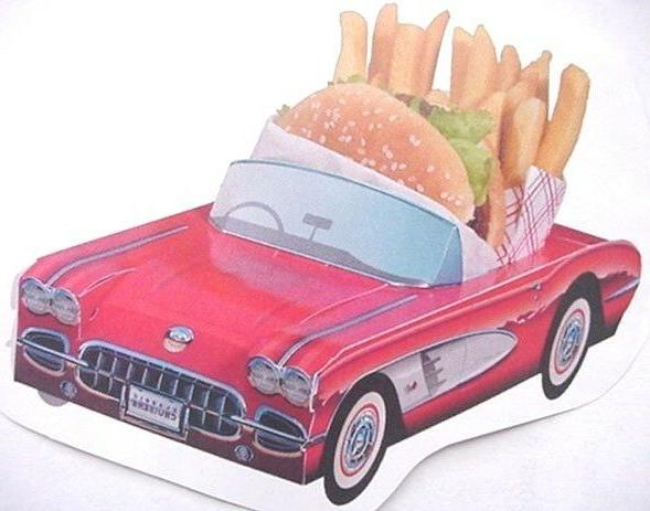54 ~ ASSORTED Classic Cardboard Cars Party Planner Kids Food