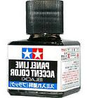 TAMIYA 87131 Panel Line Accent Color Black 40ml for PLASTIC