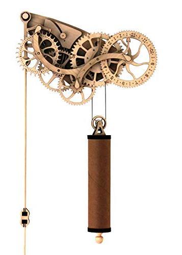 Abong Laser-Cut Mechanical Wooden Pendulum Clock - 3D Clock