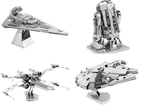 Metal Earth 3D Model Kits - Star Wars Set of 4 - X-Wing, Mil