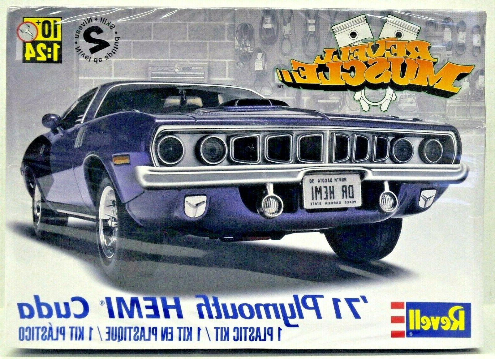 Plastic Model Kit-'71 Plymouth Hemi 'Cuda Hardtop 1:25