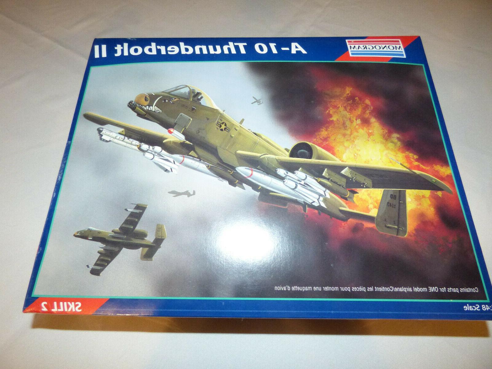 Monogram A-10 Thunderbolt II Fighter Plane 1/48 Plastic Mode