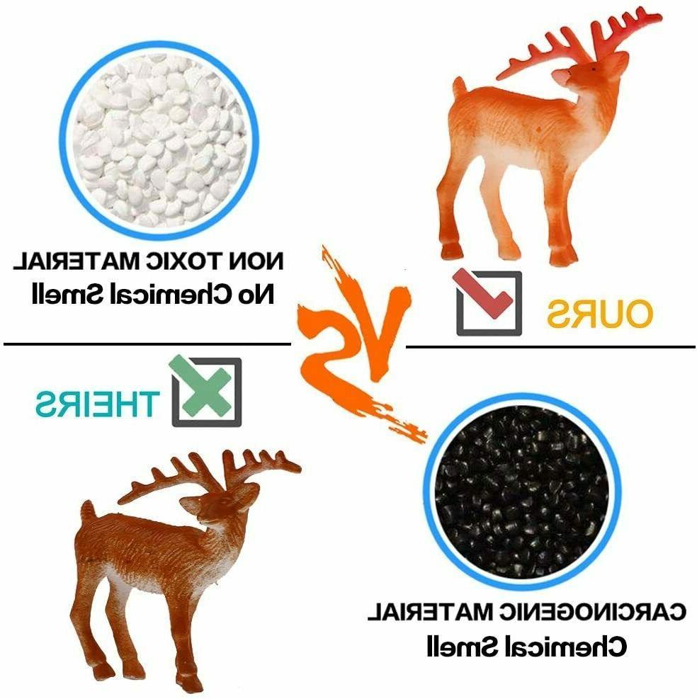 Animal Mini Plastic Models Toys Kit, Realistic