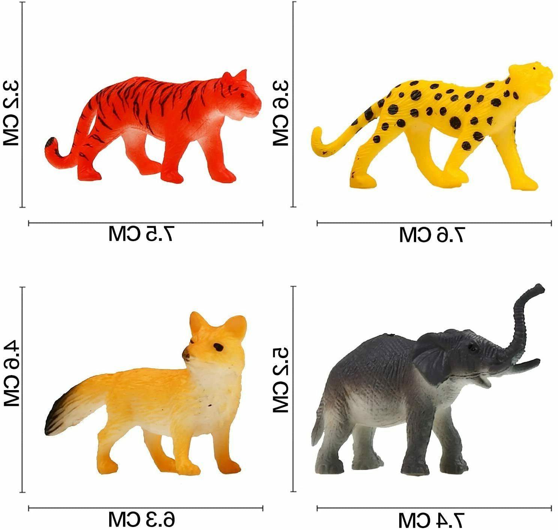 Animal 32 Pack Mini Plastic Models Toys Kit, Realistic