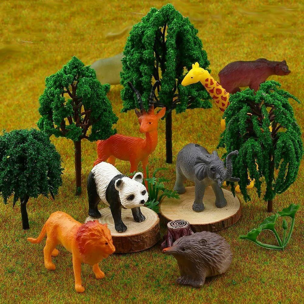 Animal Toy, 32 Mini Wild Animals Models Realistic