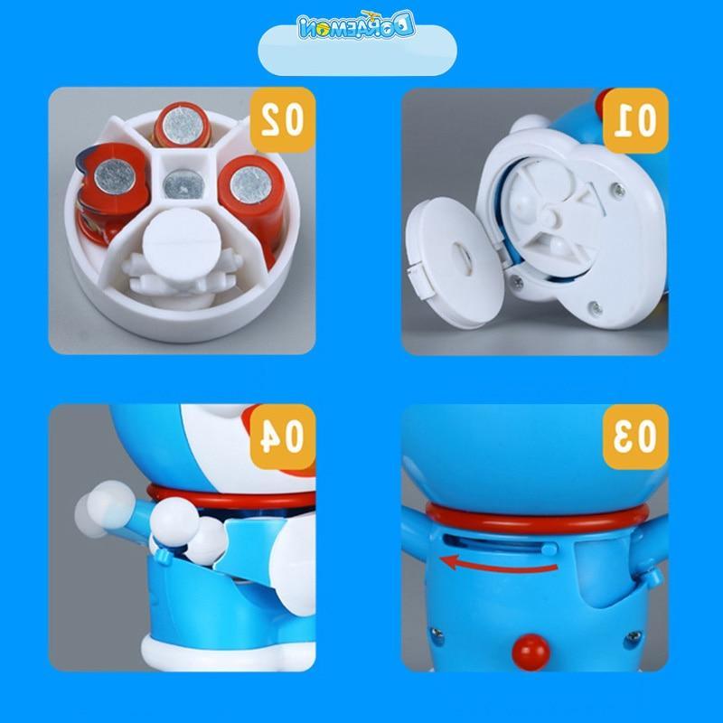 YouTube Fashion Anime Doraemons Robot Figures Face/Eyes Changeable <font><b>Model</b></font> <font><b>Kits</b></font> Anime Action Figure Collection Toys Kids