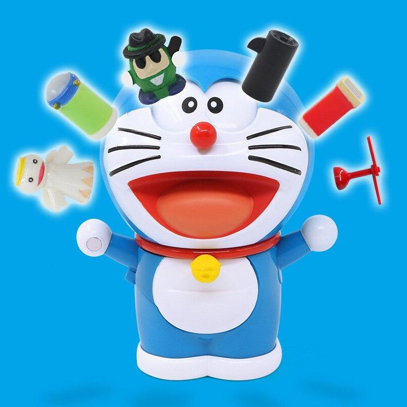 Anime Doraemons Robot Face/Eyes Changeable YouTube <font><b>Model</b></font> Anime Action Figure Toys Kids