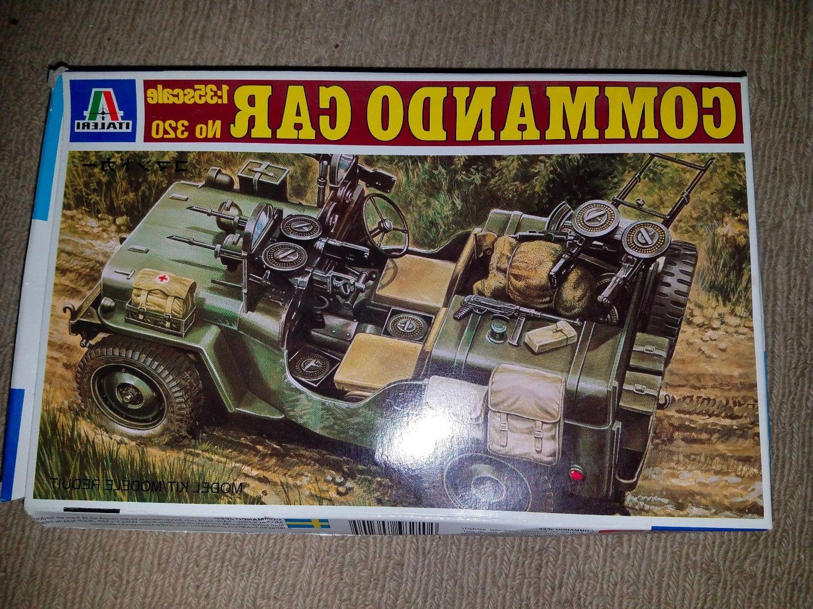 Italeri Commando Car Plastic Model Kit No. 320 1:35 Scale