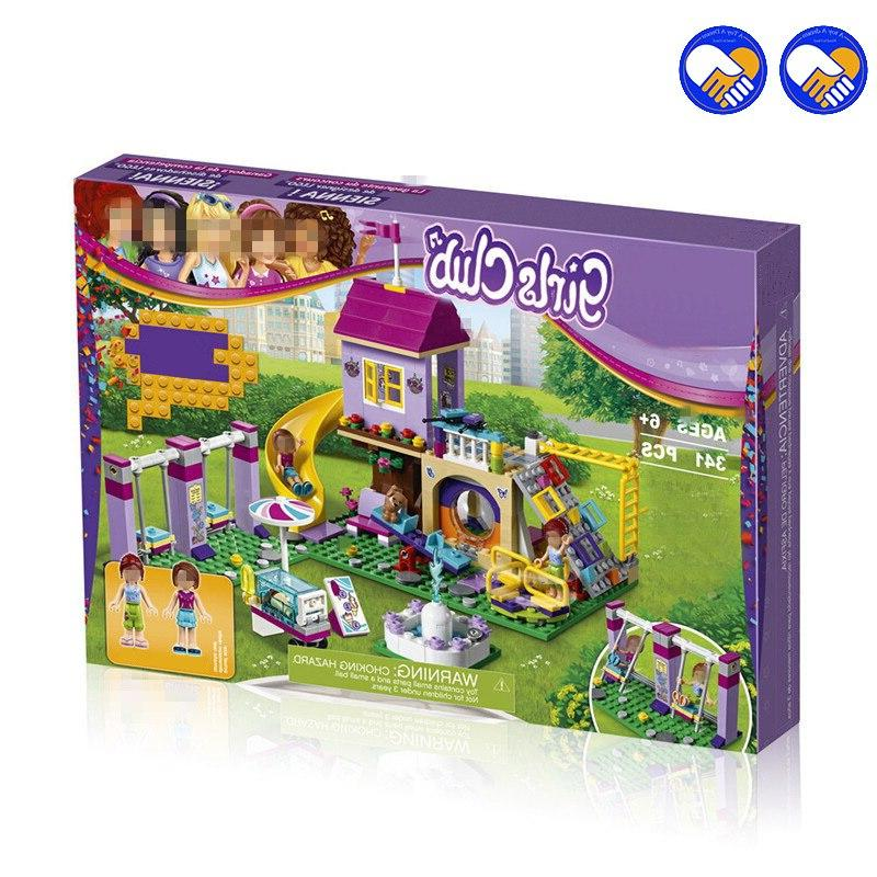 Compatible Heartlake Playground Set Girl Building <font><b>Kits</b></font> Bricks Toy