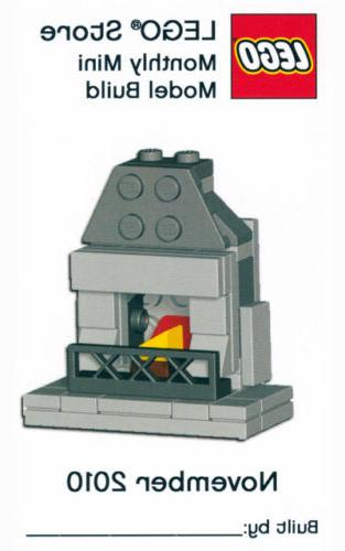 Constructibles® Fireplace Mini Model LEGO® Parts & Instruc