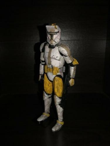 custom star wars model kit clone commander