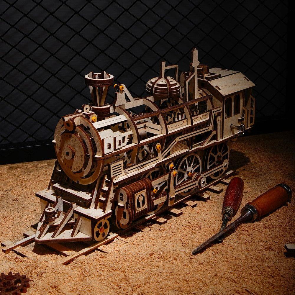 Robud Movable Locomotive Building <font><b>Kits</b></font> Gift Girls LK701