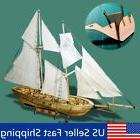 DIY Scale 1:130 Handmade Nautical Wooden Sailboat Ship Kit M