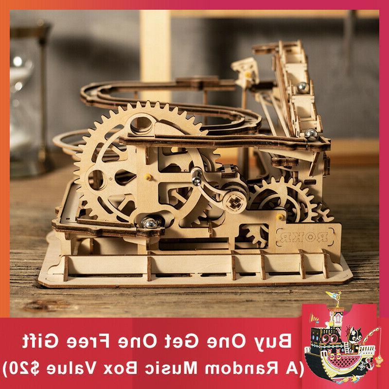 diy wooden marble run game model kits
