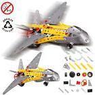Educational Fighter Model Building Blocks Toy Kits Metal Bri