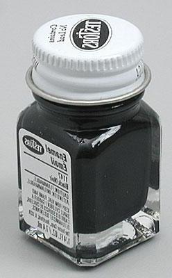 Testors Enamel 1/4 Oz Bottle Gloss Black