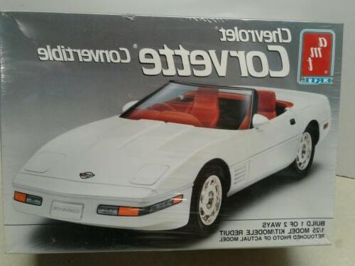 AMT ERTL Chevrolet Corvette Convertible Car Model - 1:25 - New In