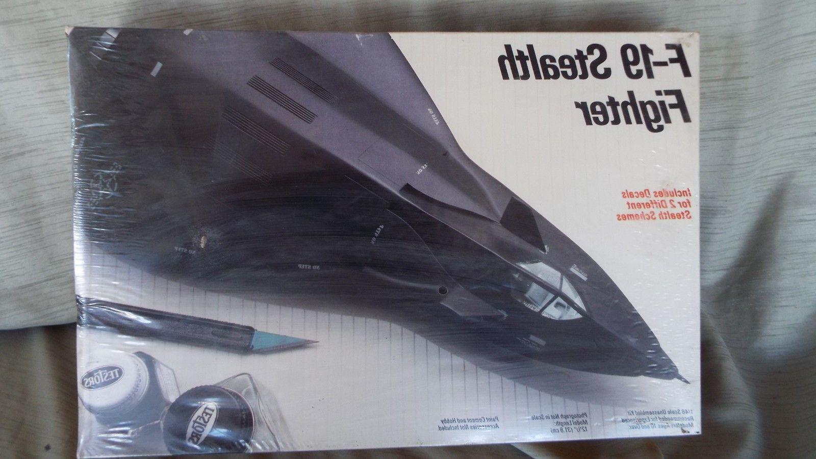 TESTORS F-19 STEALTH FIGHTER - 1/48 SCALE MODEL KIT # 595 -