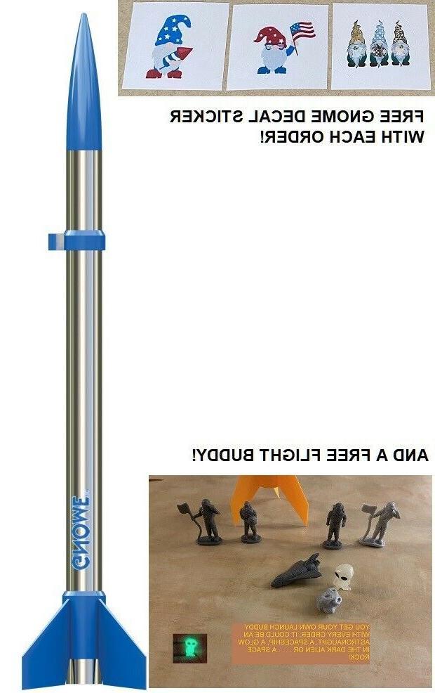 flying model rocket kit gnome 000886 single