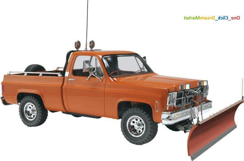 GMC Pickup Snow Plow Scale 1/25 Model Car Truck Kit Plastic