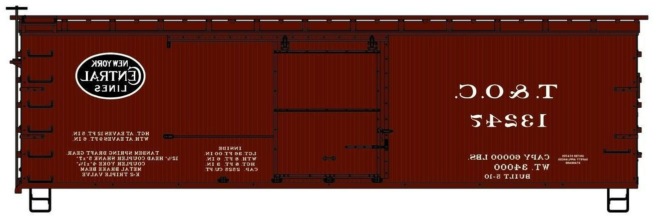 H0 Accurail - - Boxcars NYCRR Model Kit