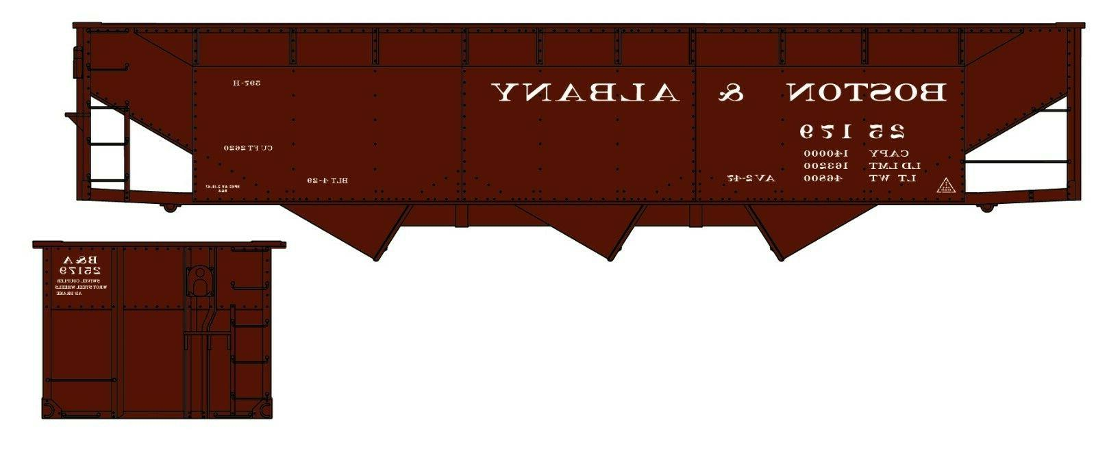 H0 -70-Ton Offset Triple - Bostom & Albany RR -